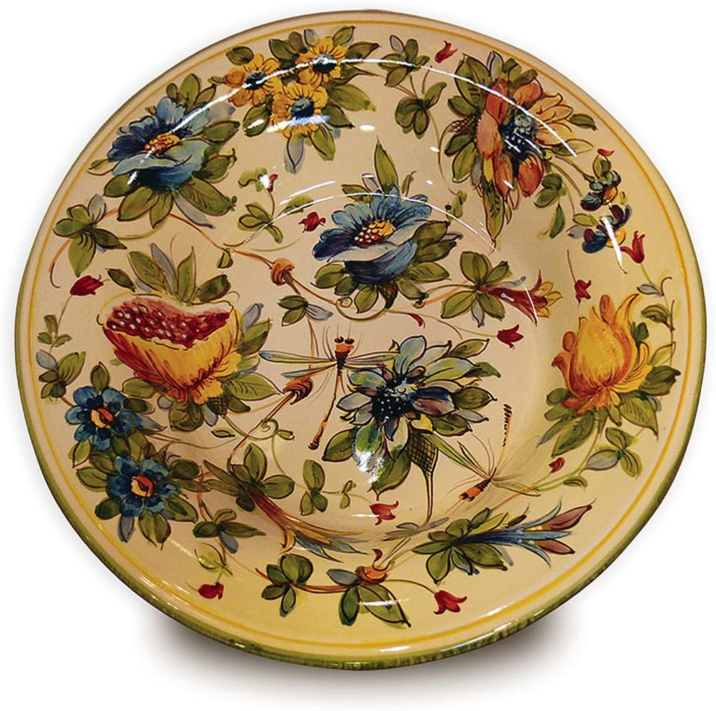 Beautiful Large Hand Painted Turkey Platter Made In Brazil From Weiss