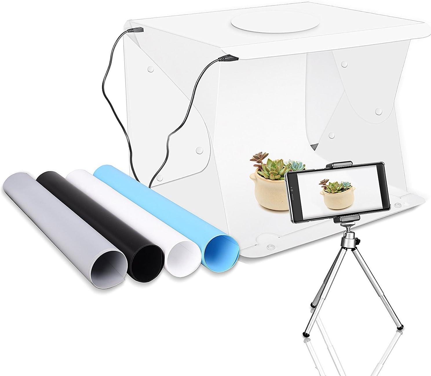 TFJ: Caja de luz Superior de 40 x 36 cm, 52 LED, portátil, para Estudio fotográfico: Amazon.es: Electrónica