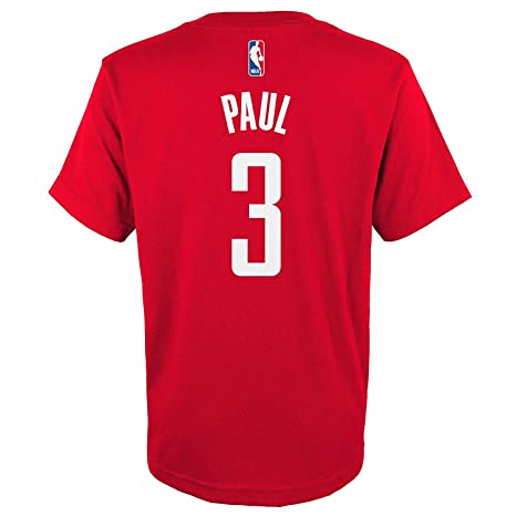 8f72a5a8ca1 Outerstuff Chris Paul Houston Rockets  3 Red Youth Name   Number T-Shirt (