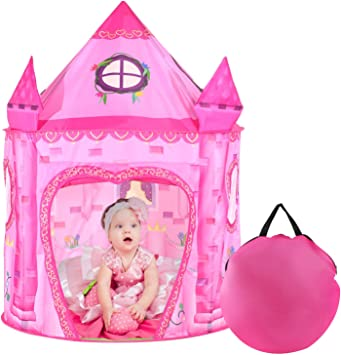 Tacobear Play Tent for Kids Girls Princess Castle Playhouse for Indoor and Outdoor Portable Pop Up Toy Tent with Carry Bag for Girls Boys foldable