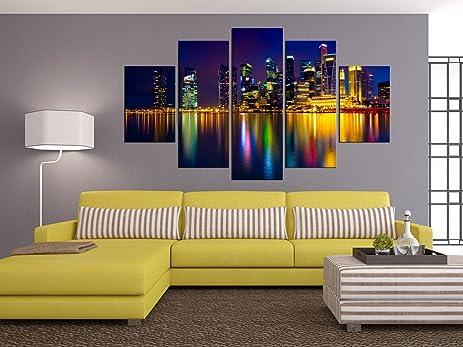 Amazon.com: PulsatingFingertip-5 Panel Night Cityscape Pictures ...