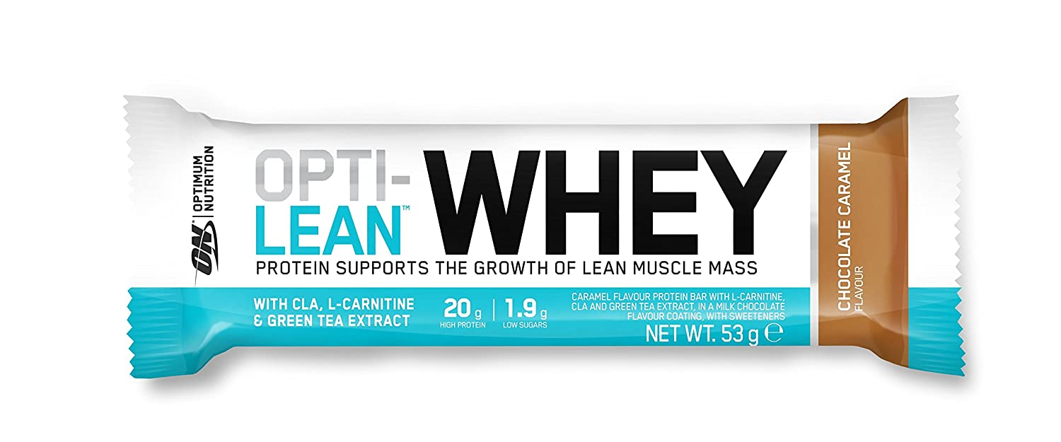 Optimum Nutrition Opti-Lean Whey Bar, Chocolate Caramel - 12 barras: Amazon.es: Salud y cuidado personal