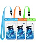 """Mpow 024 Waterproof Case, Universal IPX8 Waterproof Phone Pouch Underwater Protective Dry Bag Compatible iPhone Xs Max/XS/XR/X/8/8P, Galaxy S9/S9P/, Google Pixel/HTC up to 6.5"""" (Blue Orange Green)"""