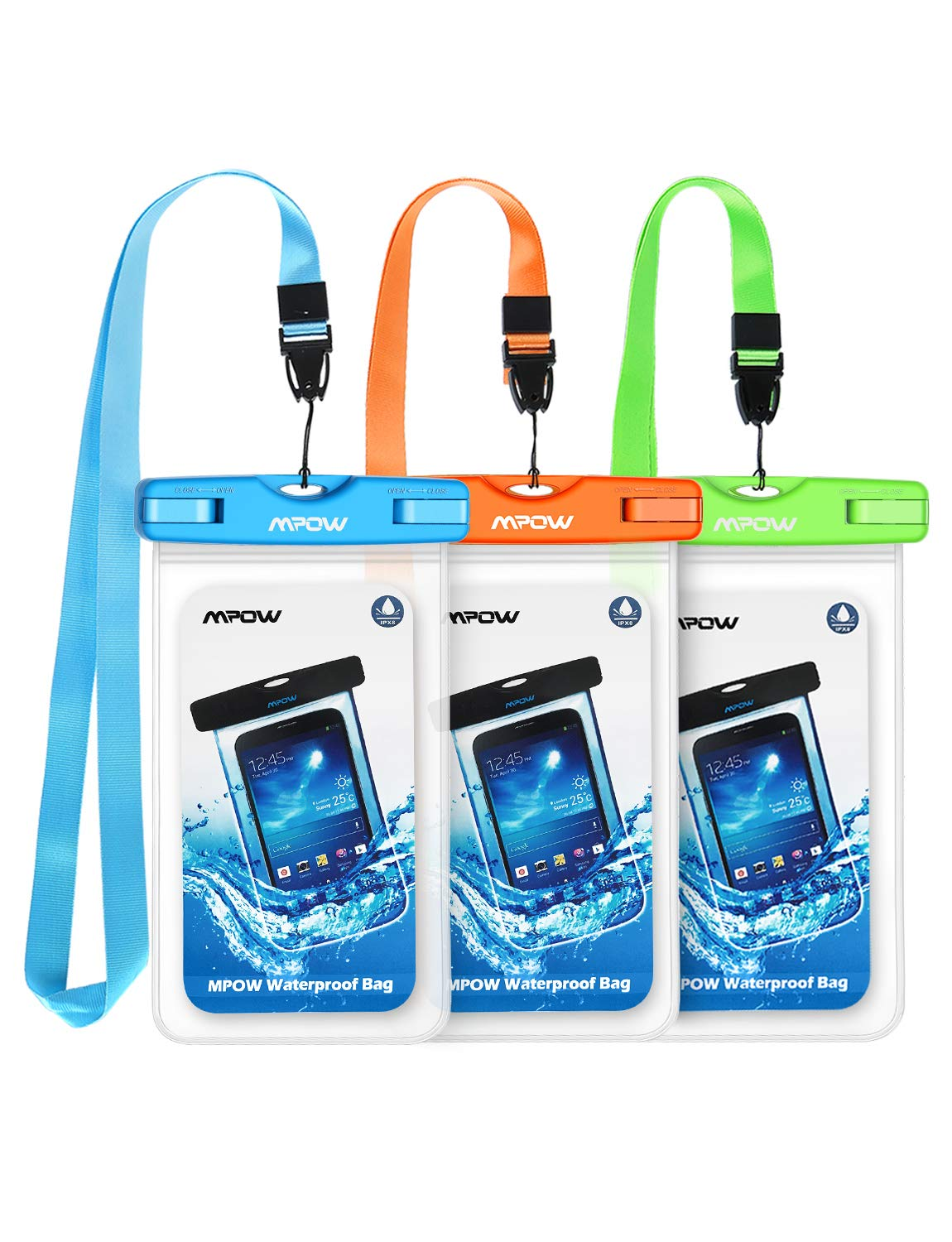 best website 47719 143ae Mpow 024 Waterproof Case, Universal IPX8 Waterproof Phone Pouch Underwater  Protective Dry Bag Compatible iPhone Xs Max/XS/XR/X/8/8P, Galaxy S10/S9, ...