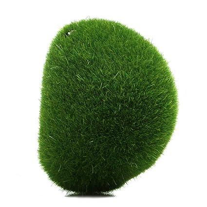 Wrisky DIY Marimo Moss Balls Artificial Grass Turf Mini Fairy Garden Micro  Terrarium (S)