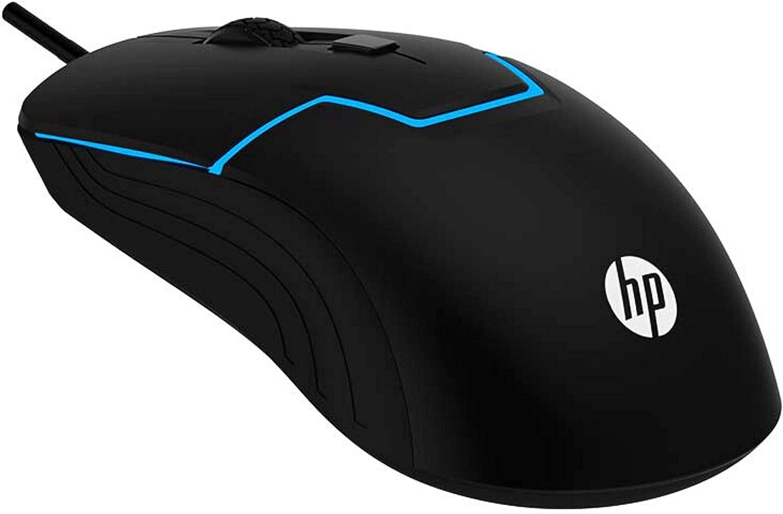 HP Wired Gaming Mouse RGB Spectrum Backlit 6 Programmable Buttons Adjustable DPI Sleek Design Ergonomic Fit 7 Color Backlit for Windows PC Gamers
