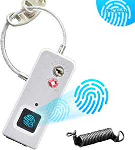 Anysafe Travelock2 Smart TSA Approved Fingerprint Padlock, IP65 Waterproof Digital Lock, Travel Lock for House Door, Suitcase,Backpack, School, Gym, Bike,Office, Luggage, Keyless, with Spring Coils