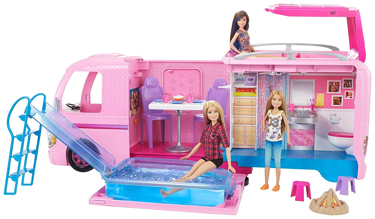 Amazon.es: Barbie Supercaravana de Barbie, autocaravana muñeca ...