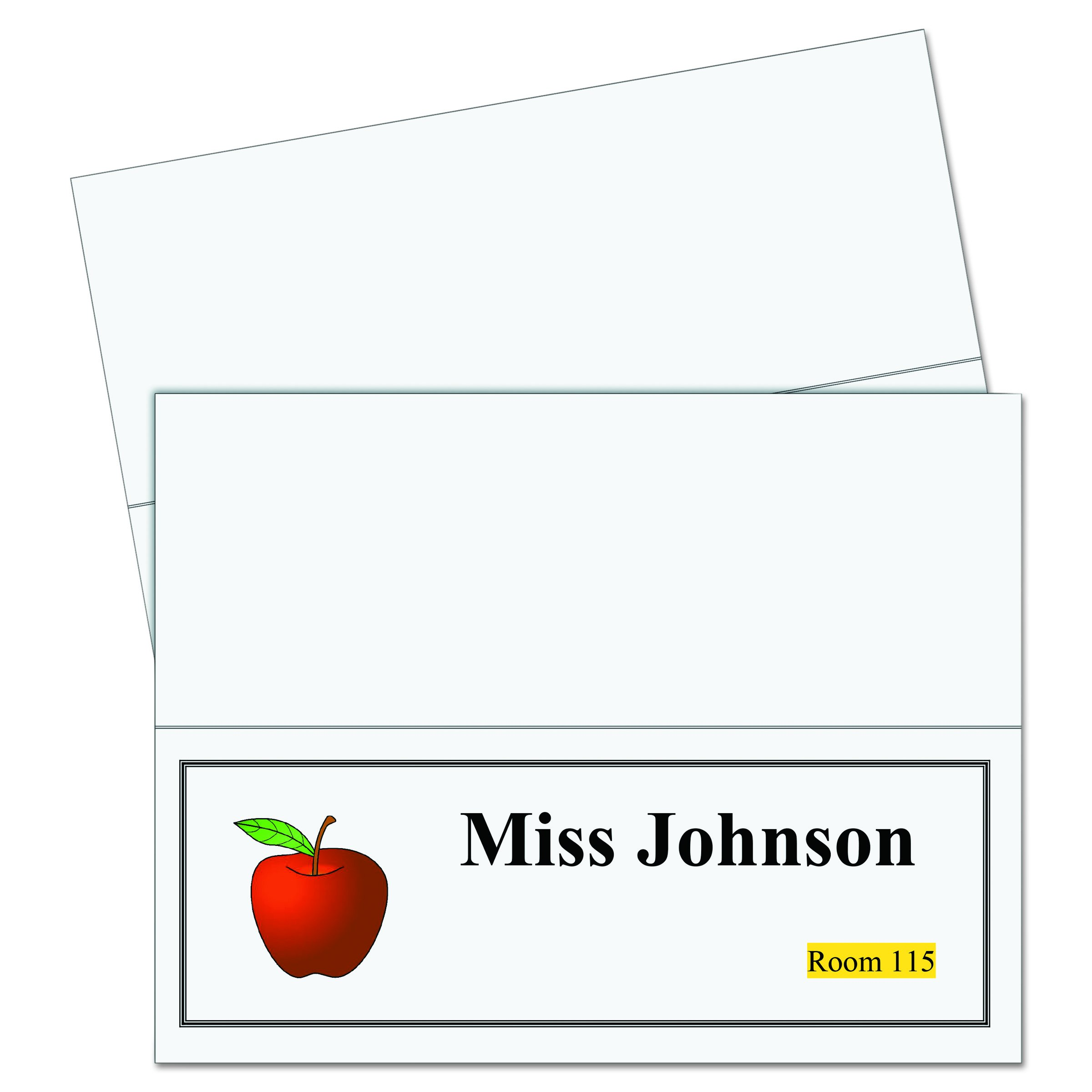C-Line Printer-Ready Scored Name Tent Cards, 11 x 4-1/4 Inches (Folded Size), 8-1/2'' x 11'' White Cardstock Sheets, Box of 50 (87517) by C-Line