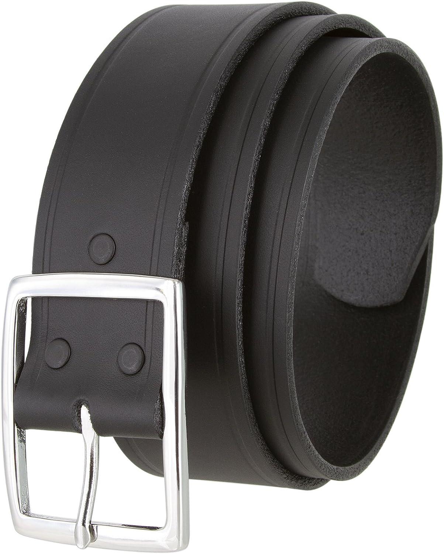 Black S002B NP Mens Leather Work Belt Uniform Belt 1 3//4 Wide