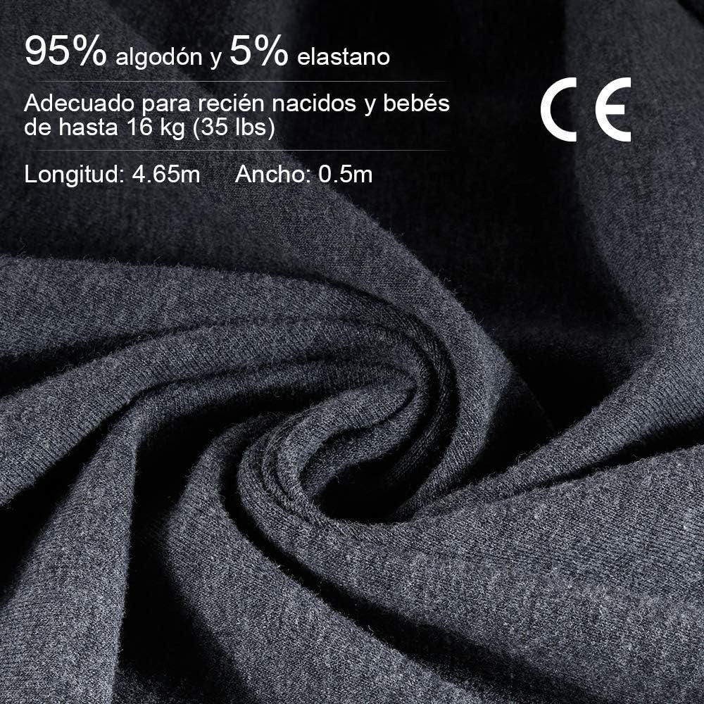 16 kg Certificaci/ón de seguridad CE con bolsa de almacenamiento y colorido manual de usuario Lictin Fular portabeb/és Portabebes recien nacido Caja de regalo Portabeb/és elastico Hasta 35 lb