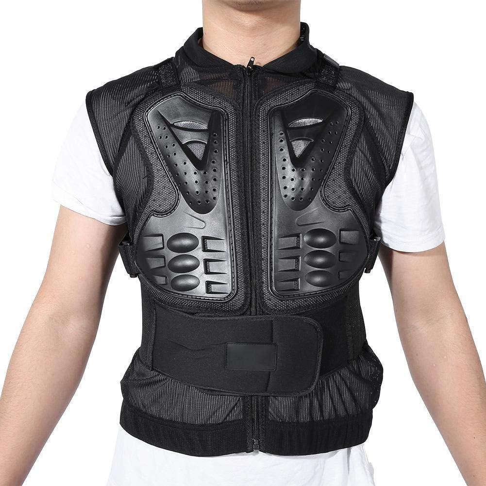 schwarz lahomie Motorrad Lederweste,Motorrad /ärmellose Weste Wirbels/äule Brustpanzer /Ärmellose K/örperschutz Racing Protective Gear Jacket