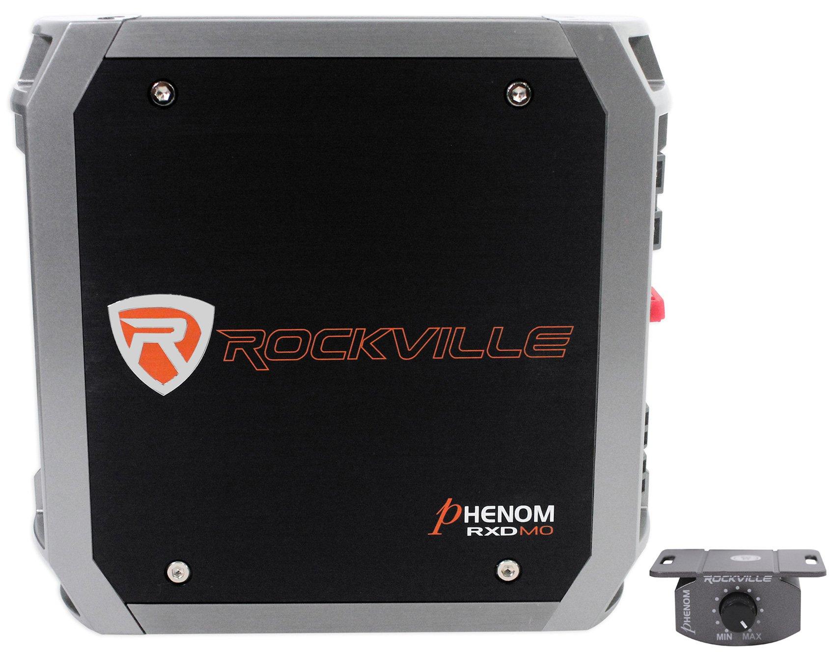 Rockville Rxd-m0 1200W/600W RMS Mono Class D 1 Car Audio Amp