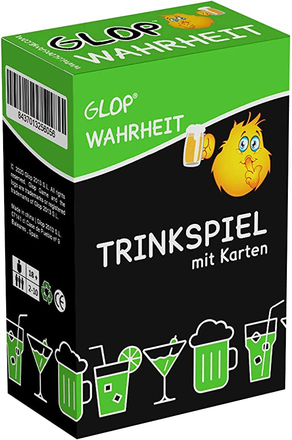 Glop Truth - Drinking Game - Social Adult Card Game - Adult Board Game - Party Game - 100 Cards: Amazon.es: Juguetes y juegos