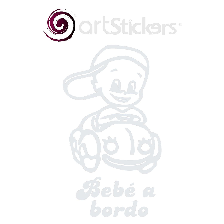 Blanco Artstickers/® Adhesivo Pegatina Bebe a Bordo Beetle Regalo Sorpresa BABYFUN COLLECTI/ÓN 10 Colores A Elegir