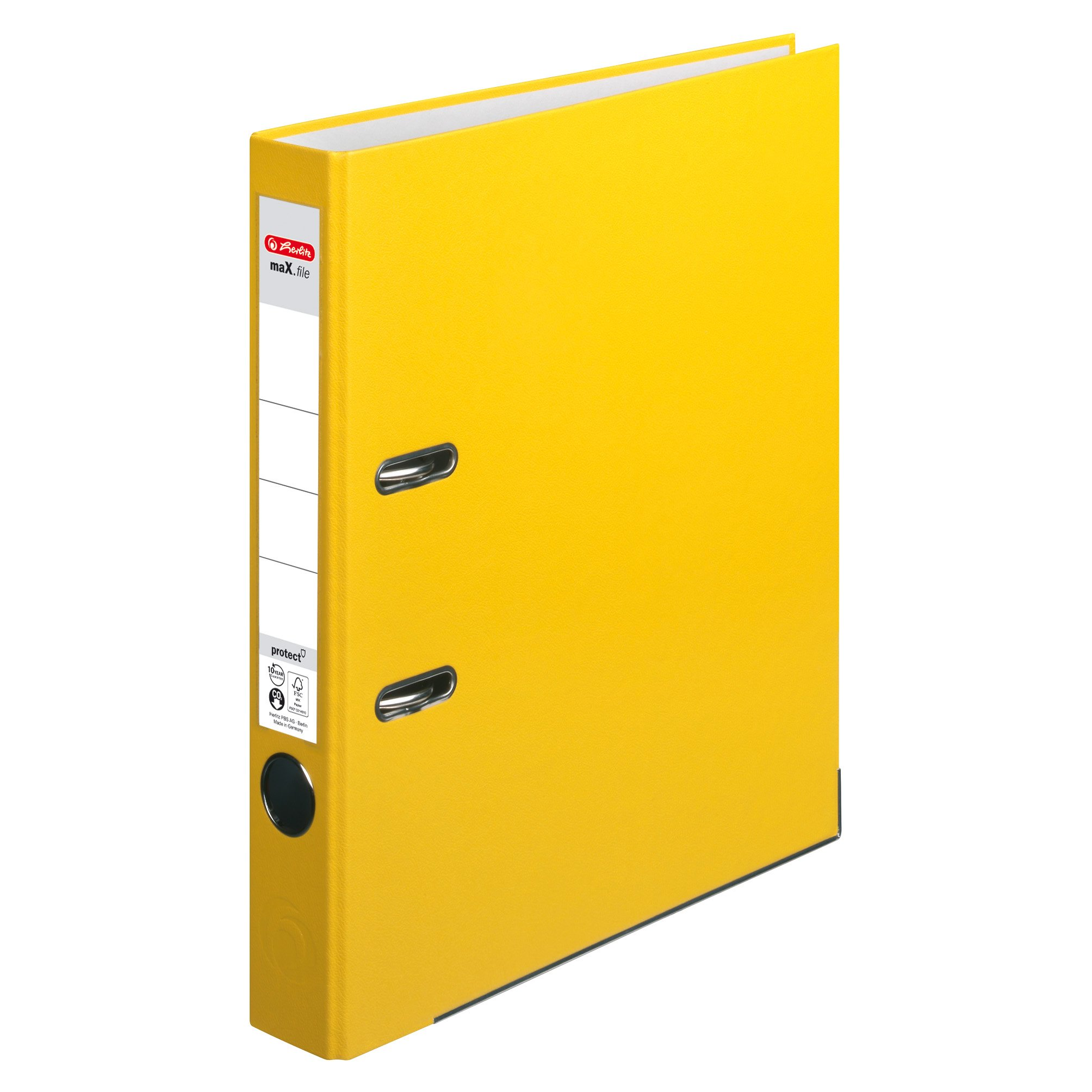 Herlitz max. file Protect A4 5 cm with Slip-In Spine Label 5450309 Folder Red yellow