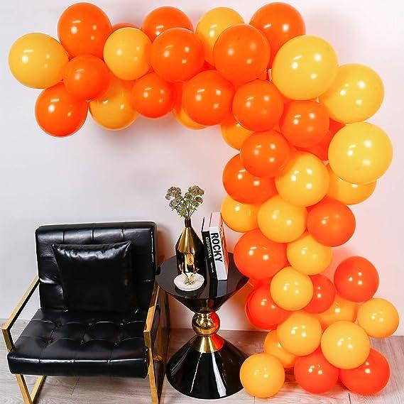 PuTwo Globos Naranjas y Amarillos, Globos 60 Piezas 12 ...