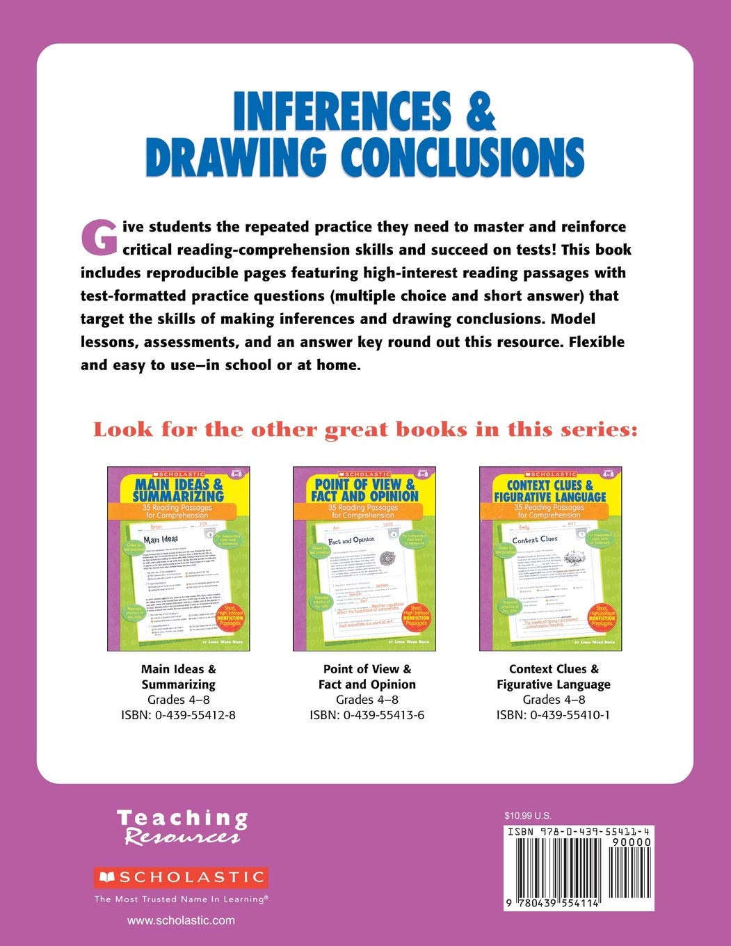 Amazon com: 35 Reading Passages for Comprehension: Inferences