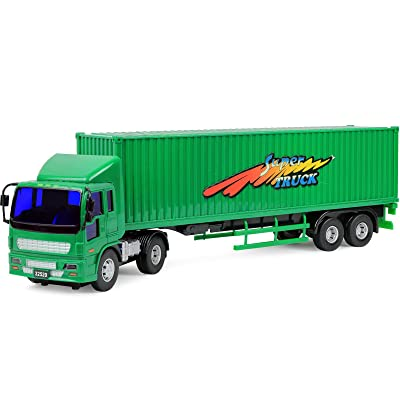 Click N' Play Friction Powered Jumbo Tractor Trailer Truck Toy Vehicle for Kids: Toys & Games