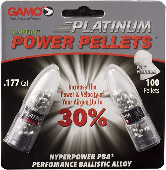 Gamo Air Gun Pellets PBA Platinum .177 Cal. Qty of 100