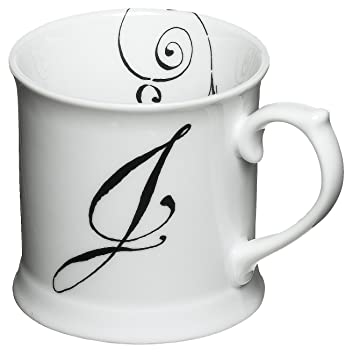 rosanna initially yours mug letter j