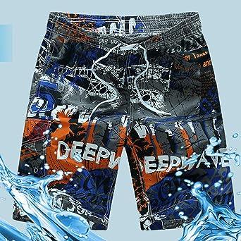 FRAUIT Herren Mode Druck Patchwork Shorts Strand Surfen Lose Kurz Hosen Badeshorts Badehose in vielen Farben  Badeshort  Bermuda Shorts  Schwimmhose