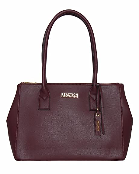 4c7e436a66ad Kenneth Cole Reaction Annemarie Satchel Handbag (BERRY JAM)  Amazon.in   Shoes   Handbags