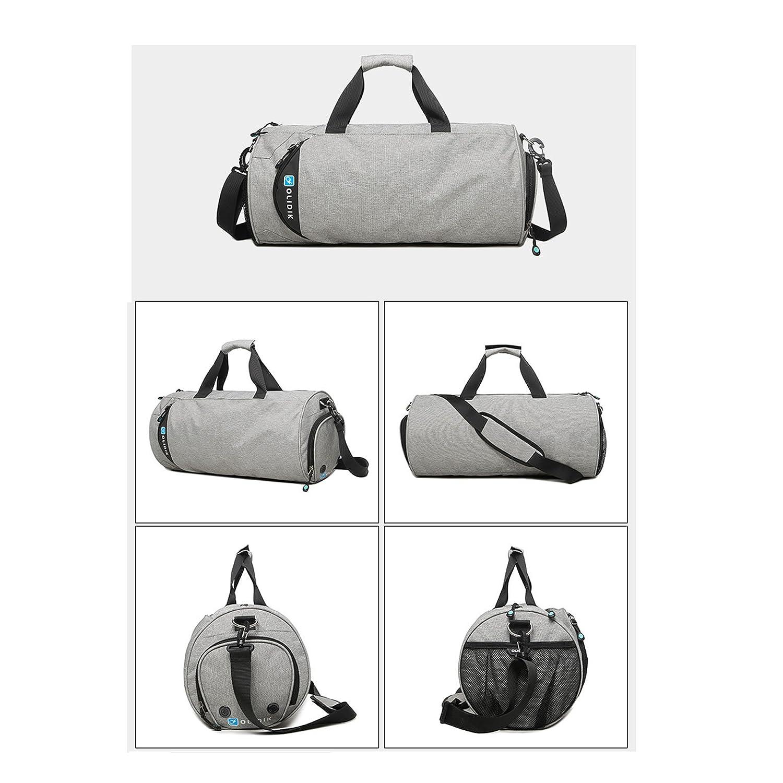 HZH Cylinder Sports Bag Messenger Large-Capacity Portable Travel Bag Shoulder Fitness Bag