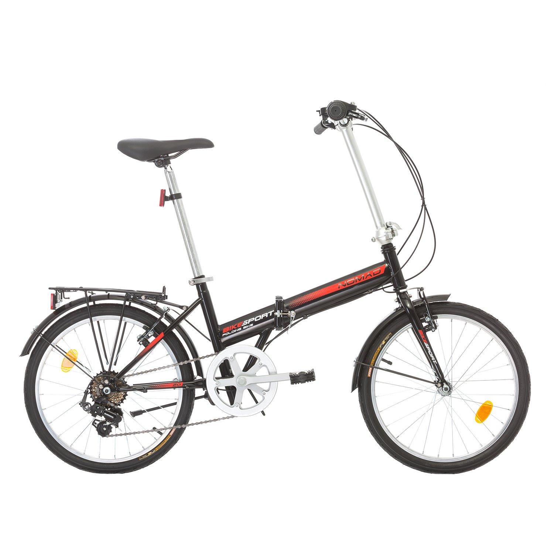 Klapprad Faltrad Fahrrad Bikesport NOMAD 20 Zoll Shimano 6 GANG (Schwarz)