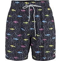Maui And Sons Traje de baño para Hombre con diseño de Tiburones, Color Negro y Secado rápido.
