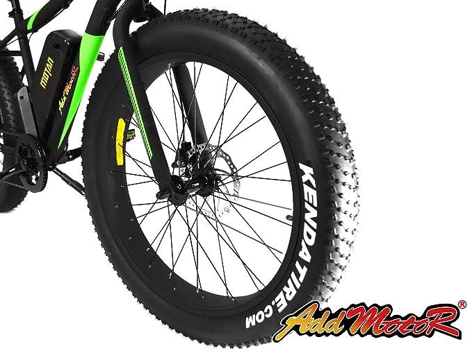 Addmotor MOTAN M-550 Bicicletas eléctricas de neumáticos gruesos para la nieve de la playa todo terreno 48V 500W motor 10.4AH Samsung batería ION-litio ...