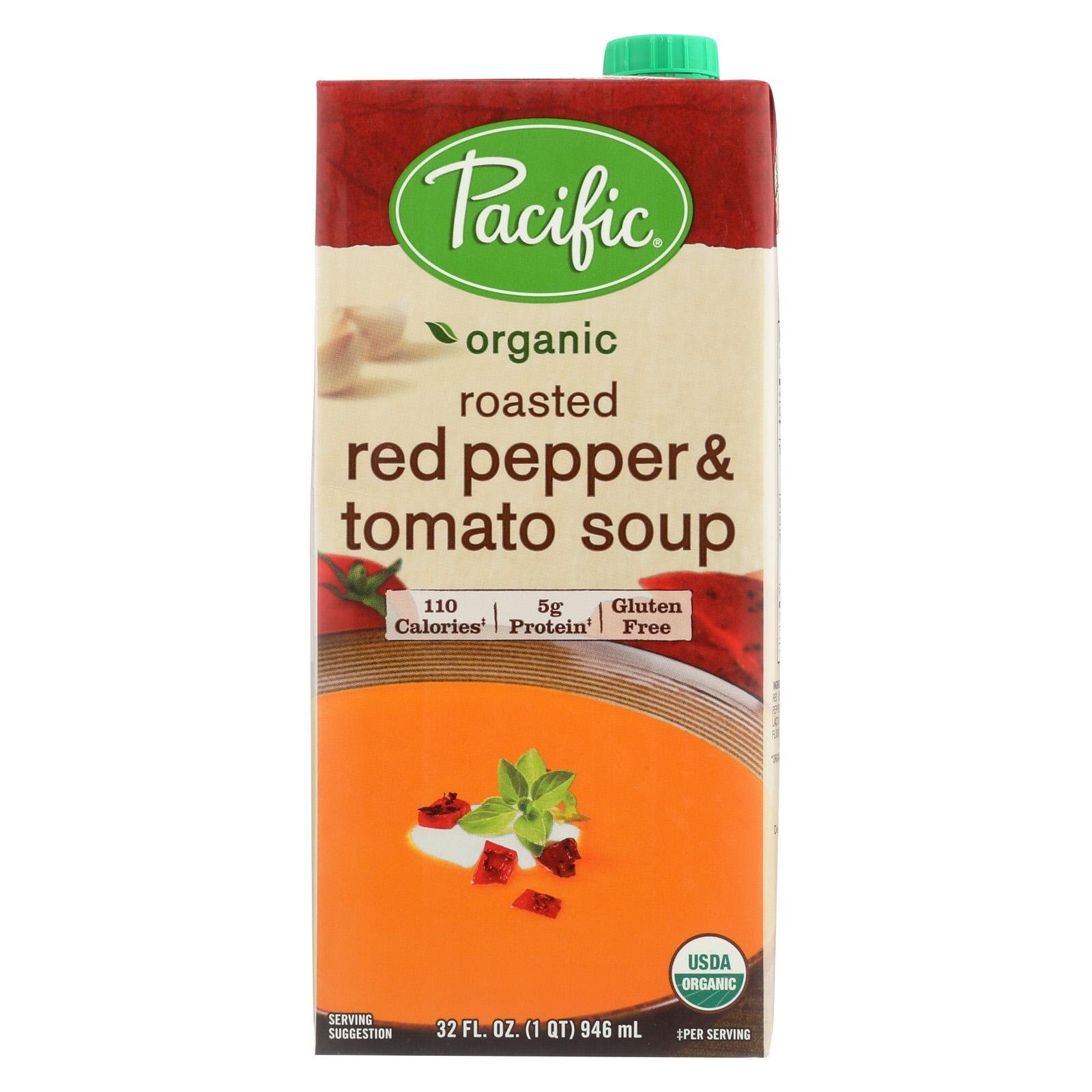 Pacific Natural Foods Organic Soup; Roasted Red Pepper & Tomato - (Case of 12 - 32 fl oz)