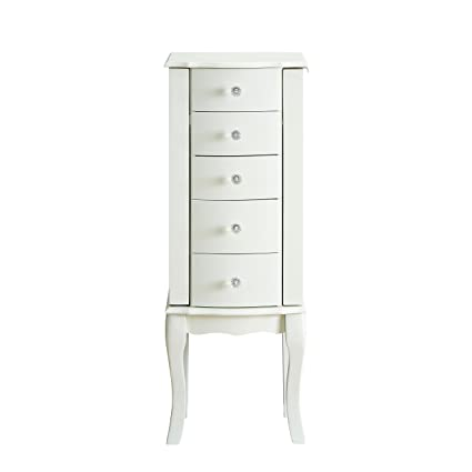 Delightful Powell Furniture Jewelry Armoire, White