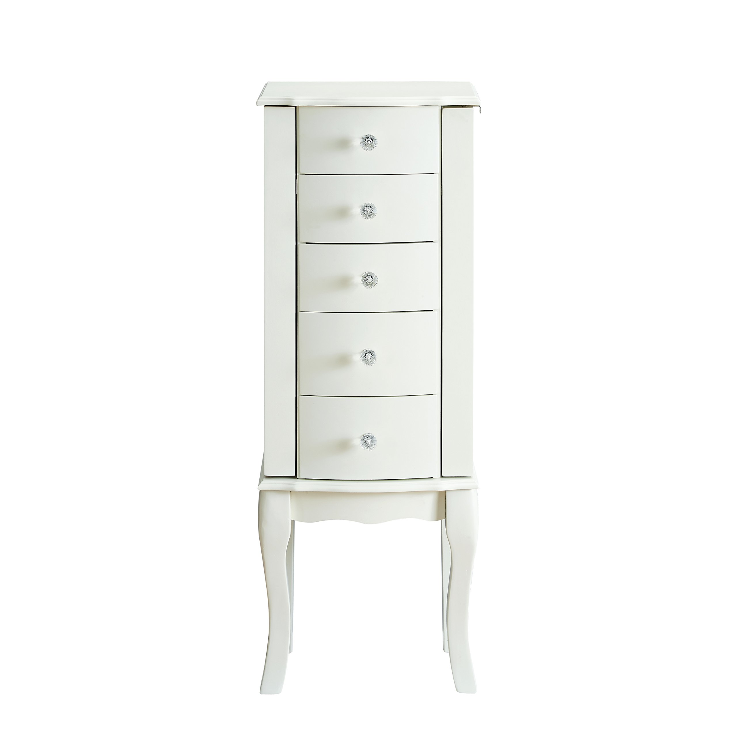 Powell Furniture Jewelry Armoire, White