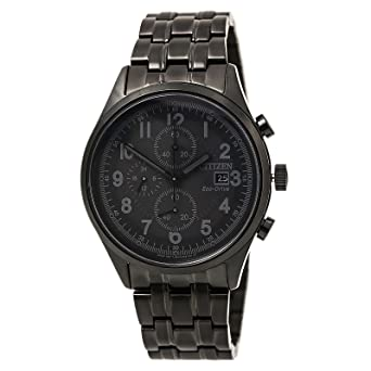 8ffd80f767baf Citizen Men s Eco-Drive Black Ion-Plated Chandler Chronograph Watch
