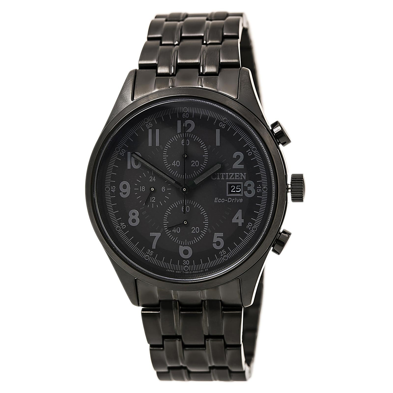 Citizen Men's Eco-Drive Black Ion-Plated Chandler Chronograph Watch