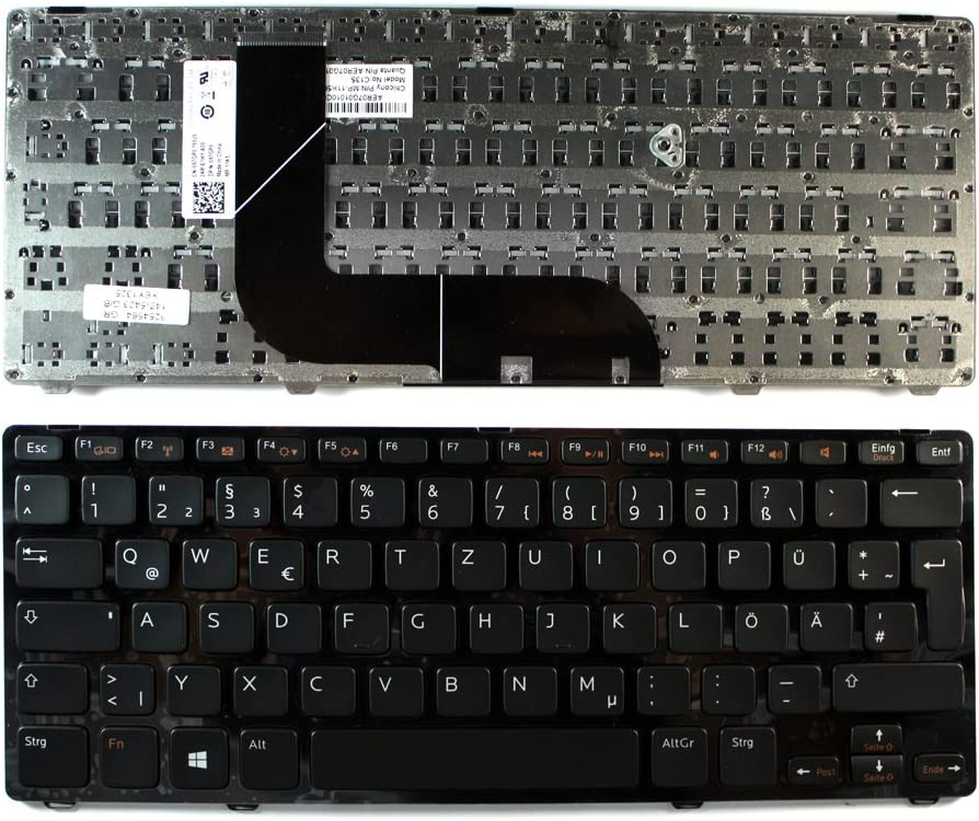 Dell Inspiron 14Z-3360 Dell AER07G01010 Dell Inspiron 14Z-5423 Keyboards4Laptops German Layout Glossy Black Frame Black Windows 8 Laptop Keyboard Compatible with Dell 097GP0 Dell MP-11K56D06920W