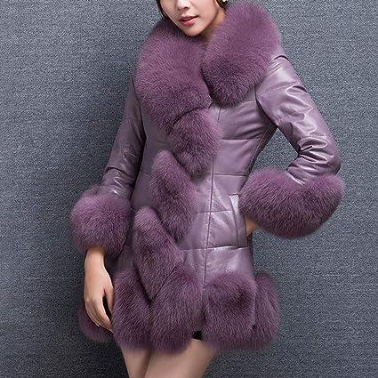 Amazon.com: Besde Womens Autumn and Winter Fashion Faux Fur Coat Plush Splice Outerwear Long Down Coat: Beauty