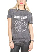 Ramones Presidential Seal band logo Nue Unisex Burn out Fashion T Shirt