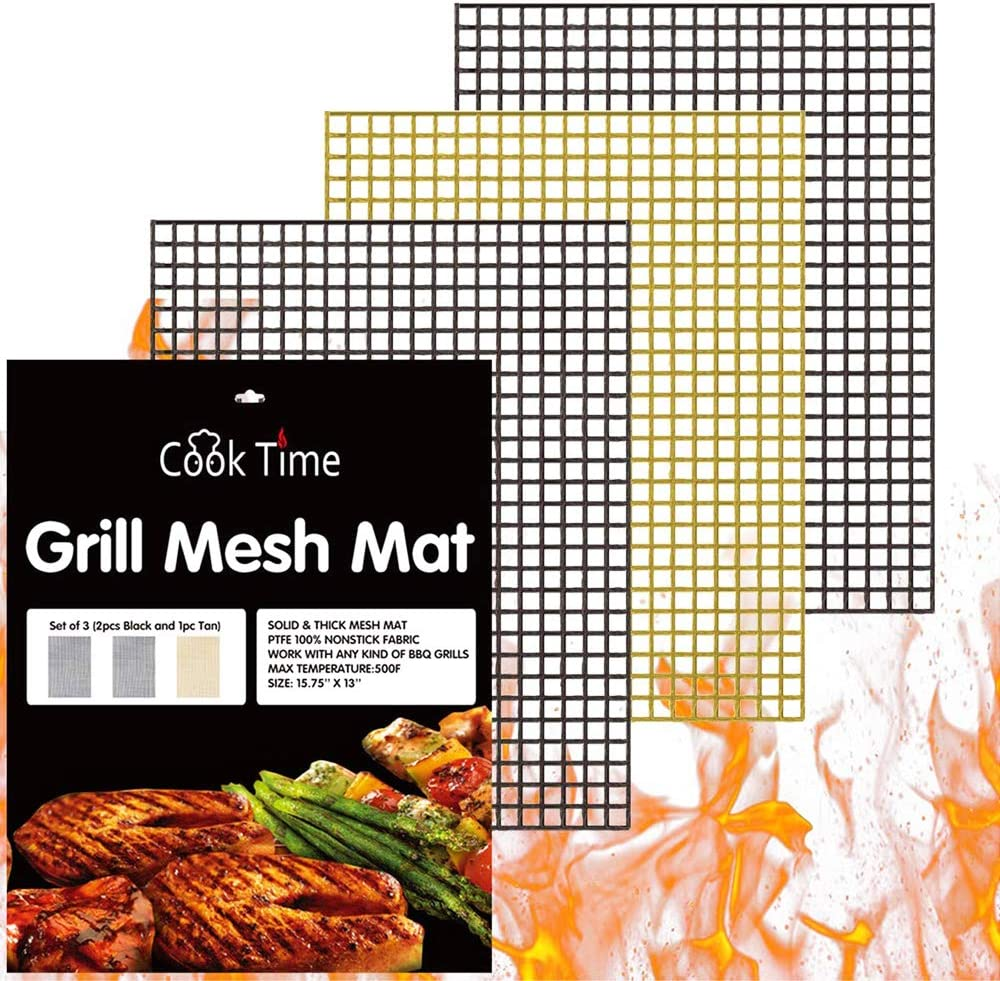 MINTIML BBQ Grill Mesh Mat Reusable Sheet Resistant Non-Stick Barbecue Bake Meat