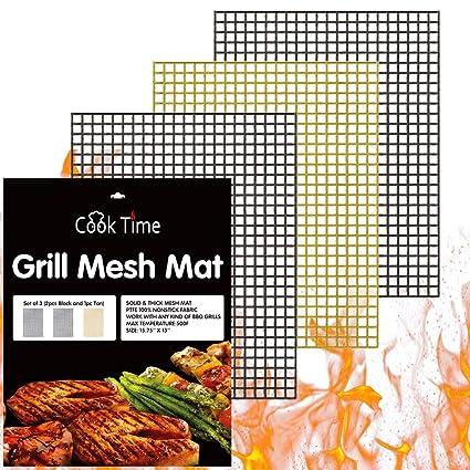 Amazon.com: Cook Time - Juego de 3 alfombrillas de malla ...