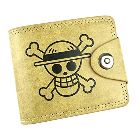 Cosstars One Piece Anime Cartera de Cuero Artificial Monedero Tríptico Billetera Clásico Portatarjetas para Hombre /1: Amazon.es: Equipaje