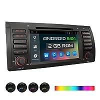 XOMAX XM-39BA Autoradio passend für BMW E39 5er M5, E53 X5, mit Android 6.0.1, 2GB RAM, Support: WiFi, W-LAN, 3G, 4G, OBD2, DAB+ / GPS, Bluetooth, 7'' Touchscreen, DVD, USB, Micro SD, 1 DIN