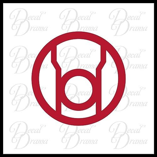 Amazon Red Lantern Corps Rage Emblem Small Vinyl Decal Dc