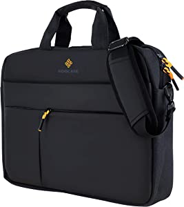 rooCASE Normandie Laptop Shoulder Bag - Carrying Case Messenger Bag with Strap Fits 15.6 inch Laptop and Tablet