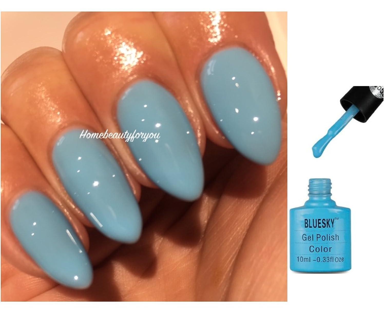 Bluesky 80555 Light Sky Blue Splash Blue Lagoon Nail Gel Polish UV ...