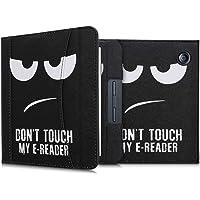 kwmobile flip cover compatibel met Kobo Libra H2O - Hoes met handgreep en voorvak voor e-reader - Book case in wit/zwart…