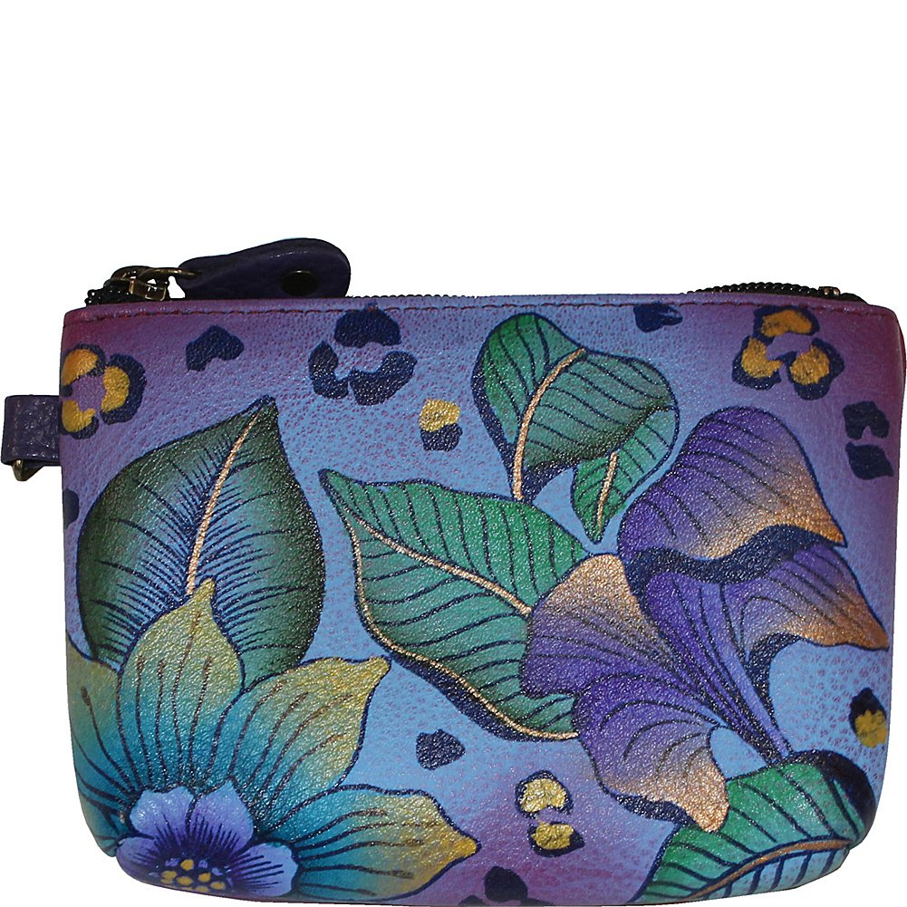 Anna by Anuschka Hand Painted Leather Women's Coin Pouch, tropical safari