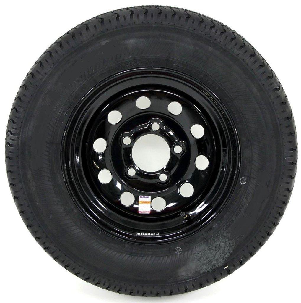 eCustomRim 2-Pack Trailer Tire On Black Mod Rim ST205/75D15 Load C (5 Lug On 4.5'') 15 x 5