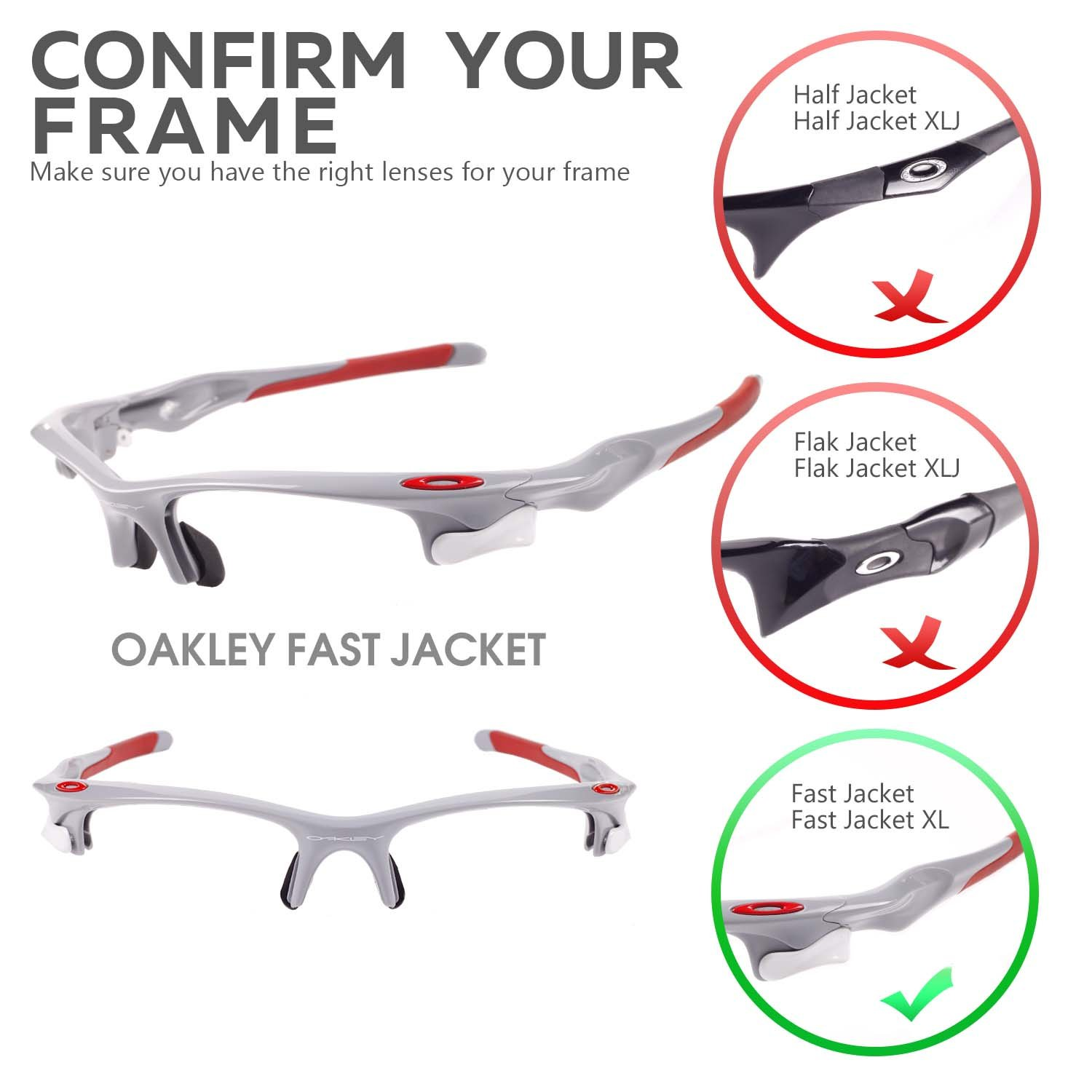 New Walleva Polarized Fire Red + Blue Lenses For Oakley Fast Jacket at  Amazon Women's Clothing store: Sports Fan Shot Glasses